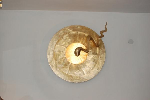 Remo Leghissa - Leuchtskulptur, Tombak/Led