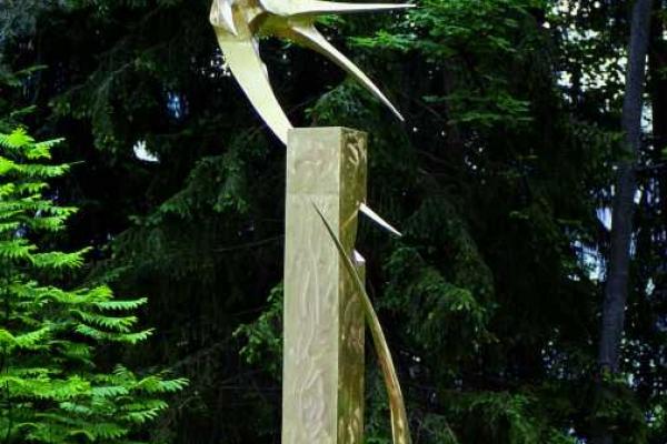 Remo Leghissa, Skulpturen aus Edelstahl und Messing - 2 Erodestruktoren
